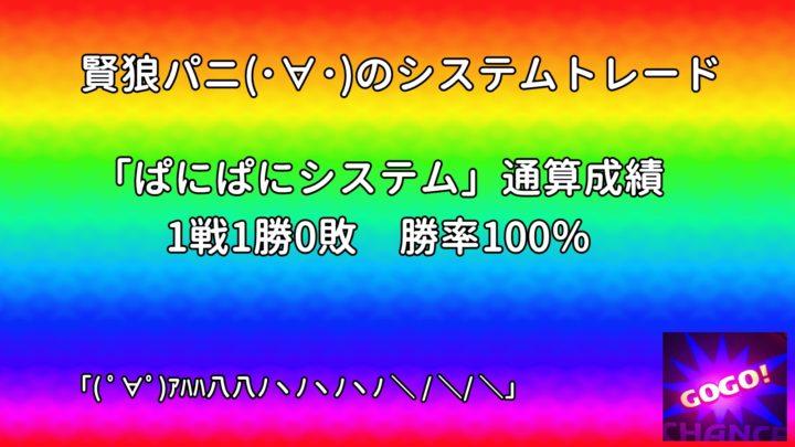 システムトレード ぱにぱにシステム